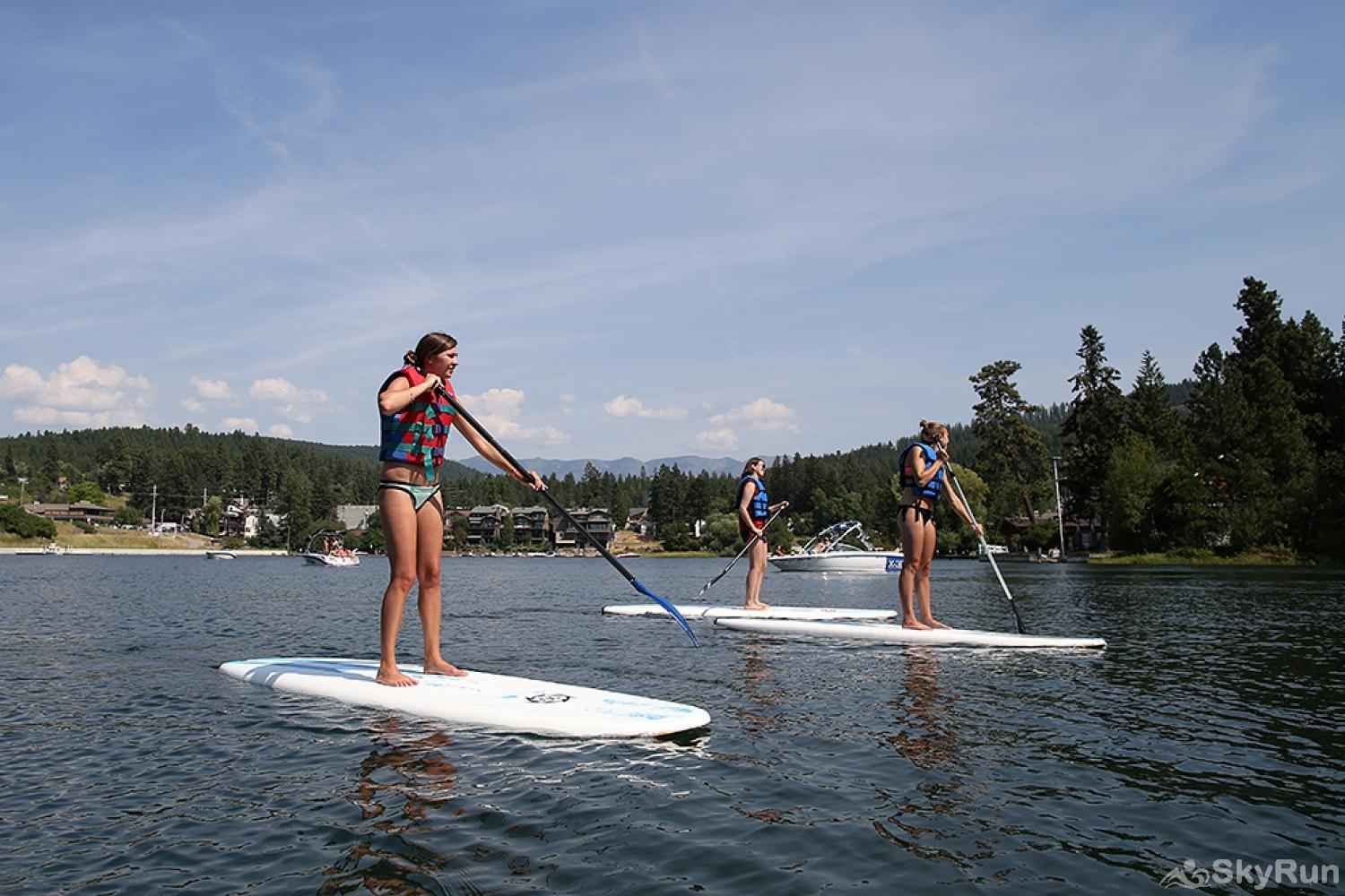 Whitefish River Inn Two paddle boards are included in your reservation.  Enjoy paddling the river or paddle up to Whitefish Lake.