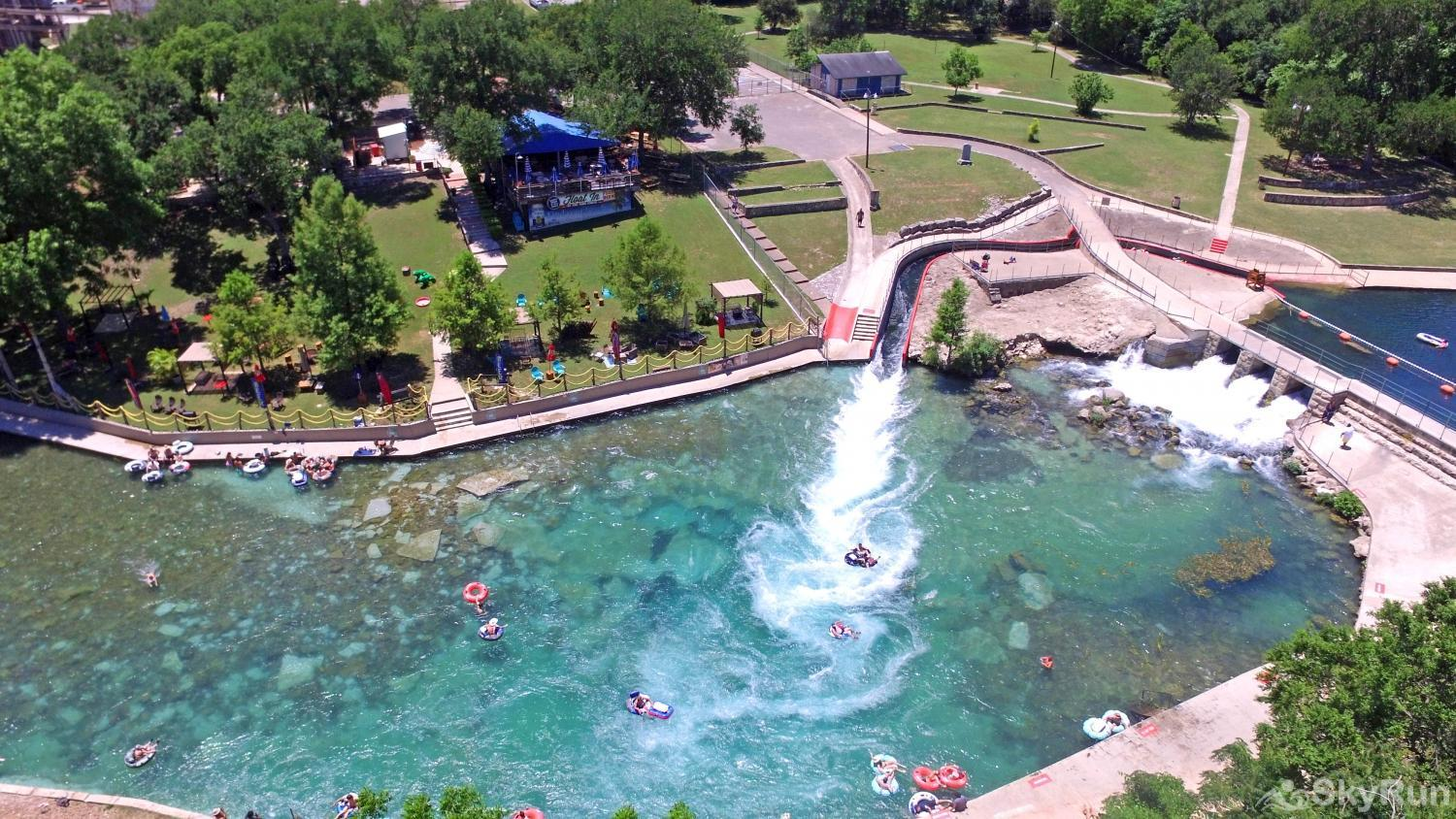 BELLA'S COVE The Comal River tube chute at Prince Solms Park