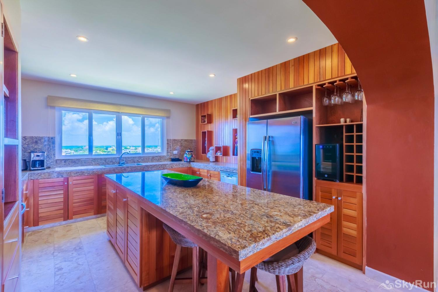 NEW Isla Mujeres Oceanview luxury 3 BR Villa Prepare breakfast, lunch or dinner in your spacious fully equipped kitchen.
