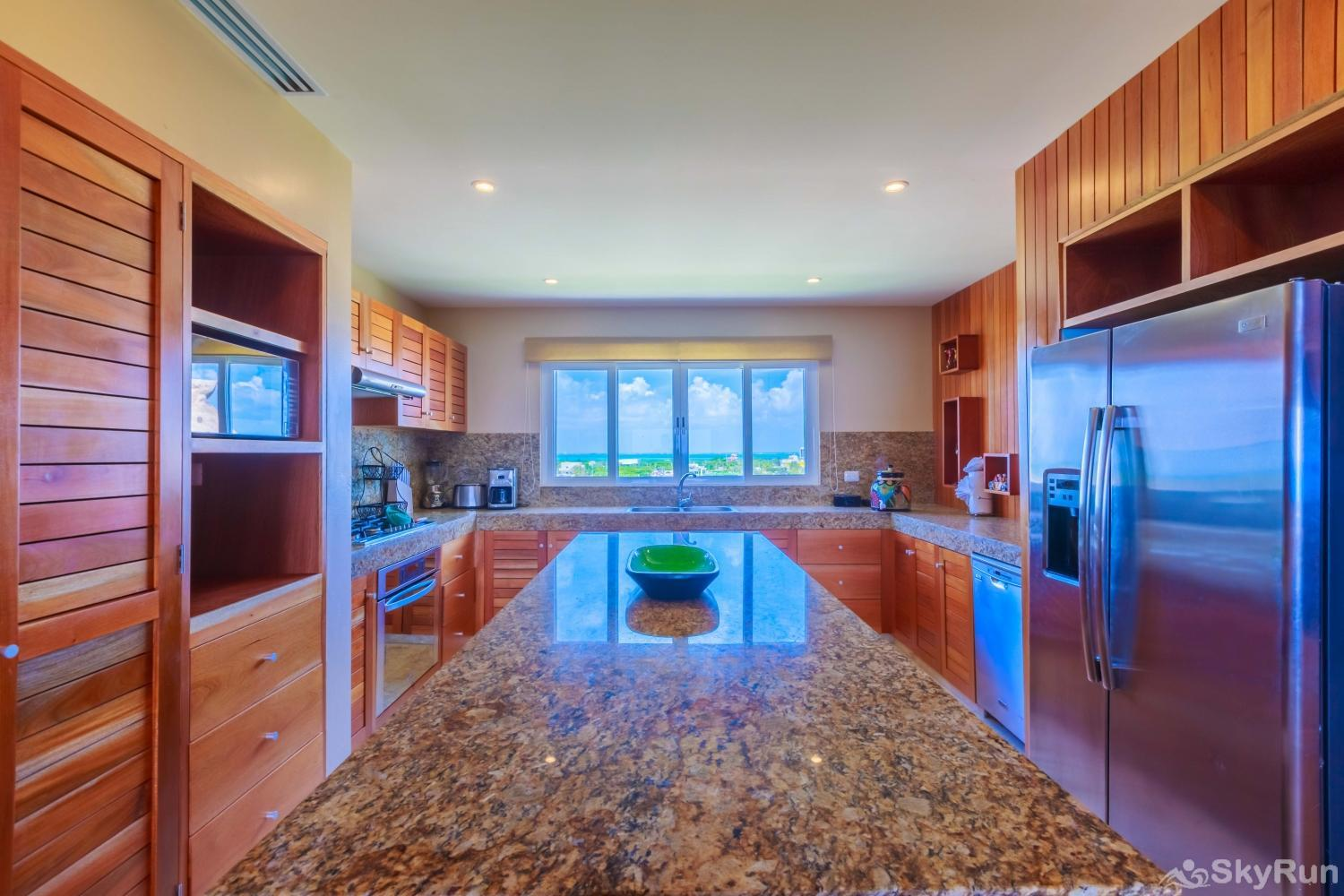 NEW Isla Mujeres Oceanview luxury 3 BR Villa Spacious and marble countertops full equipped kitchen