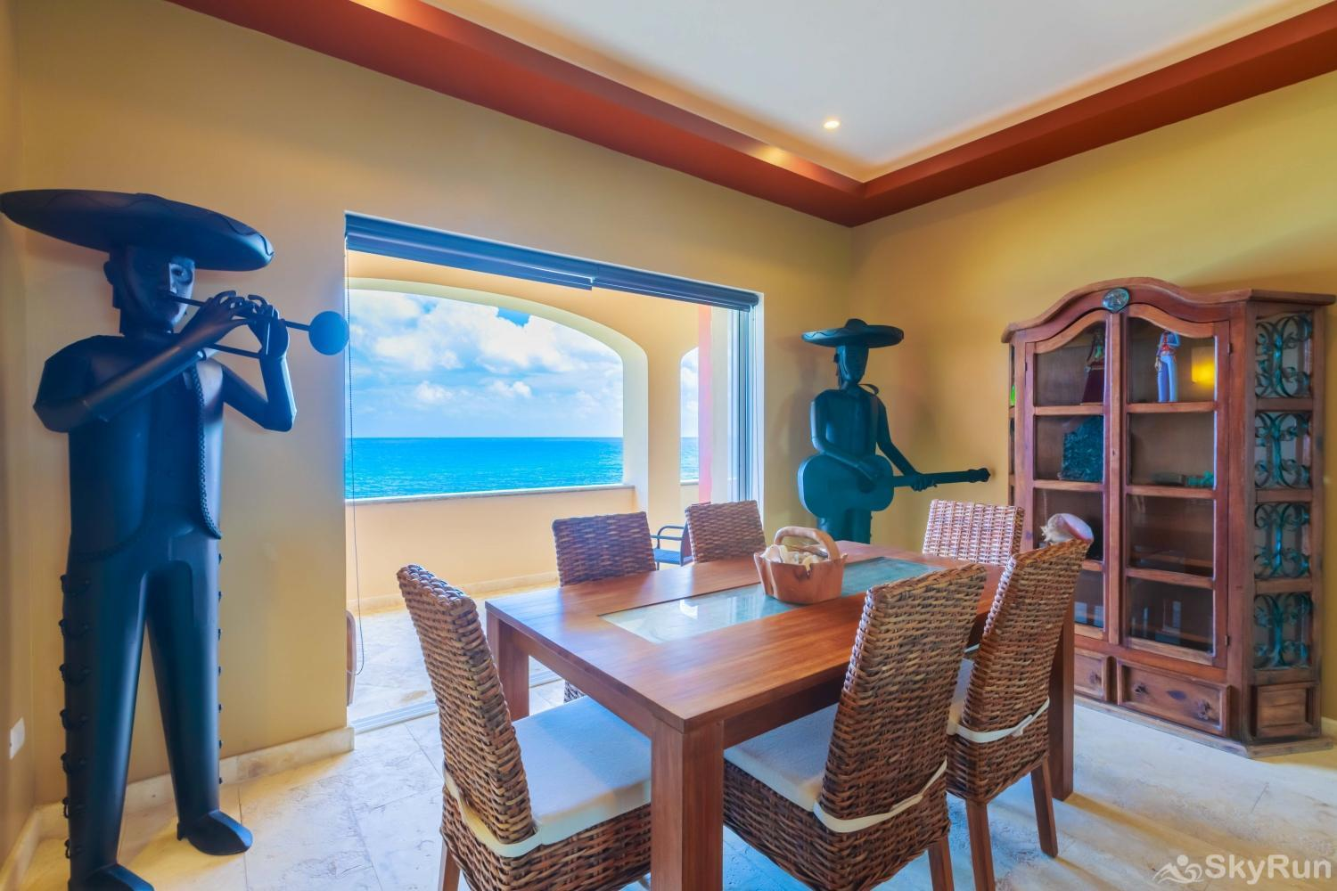 NEW Isla Mujeres Oceanview luxury 3 BR Villa Have a special dinner feeling the caribbean breeze