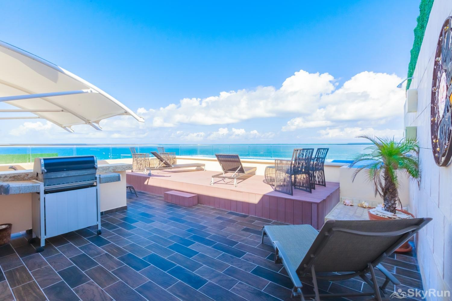 Oceanfront Penthouse | Isla Mujeres | Private Pool | Resort Amenities | Prime location | 3 bedroom | Oceanview Ocean View Luxurious Penthouse Private Pool at Isla Mujeres SkyRun