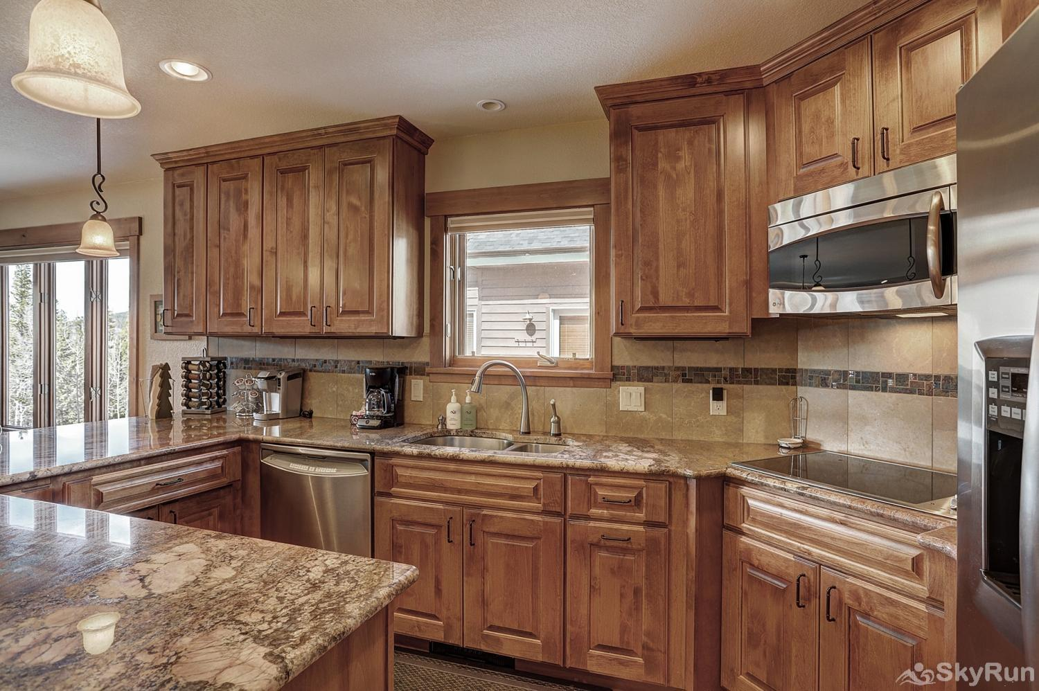 Happy Trails Fully equipped kitchen updated with stainless steel appliances