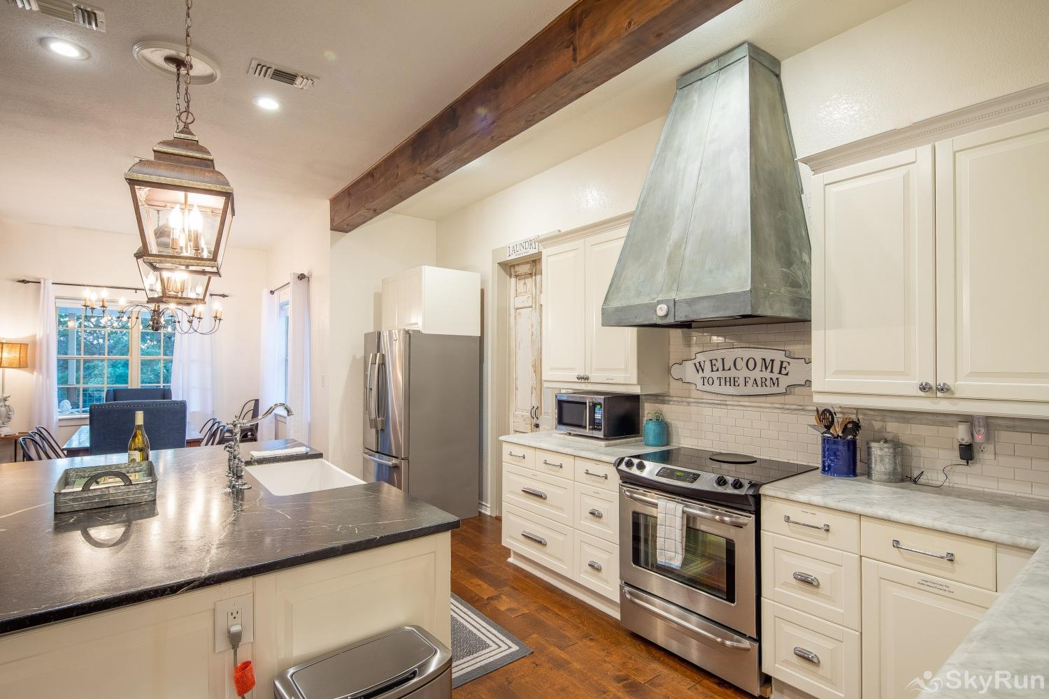 STONE RIDGE RETREAT Kitchen equipped with all cooking and dining essentials