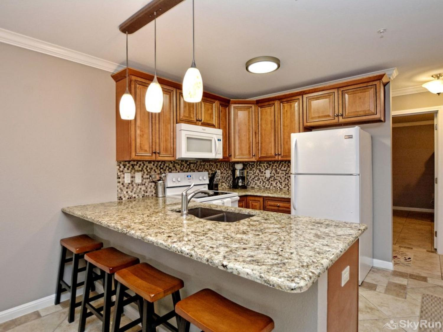 WATERWHEEL PARADISE CONDO Kitchen equipped with all cooking and dining essentials