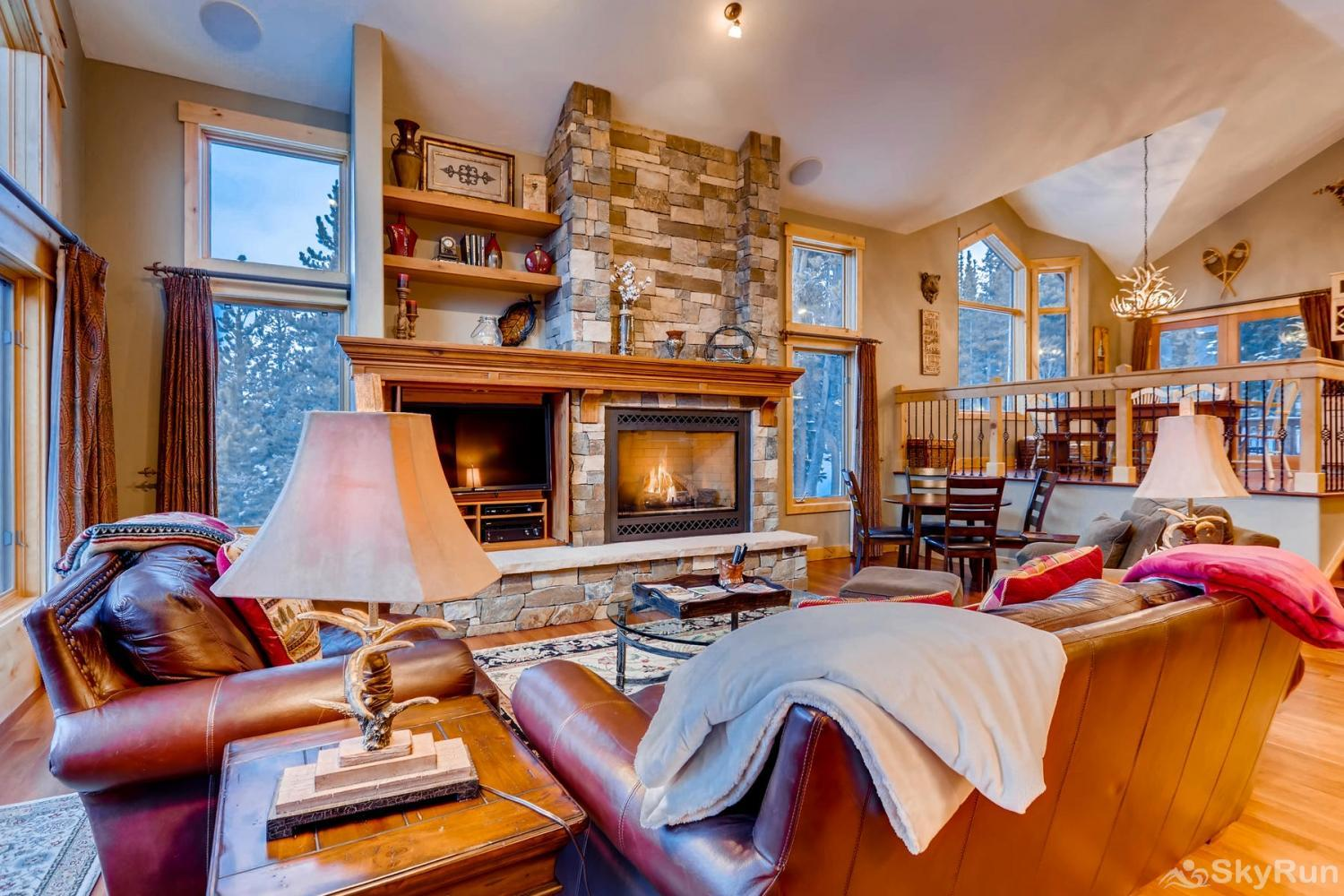 Nangle Woods Retreat Stay cozy warm by the gas fireplace on those cold winter nights