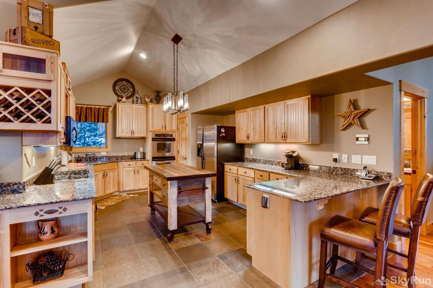 Nangle Woods Retreat Modern kitchen with stainless steel appliances