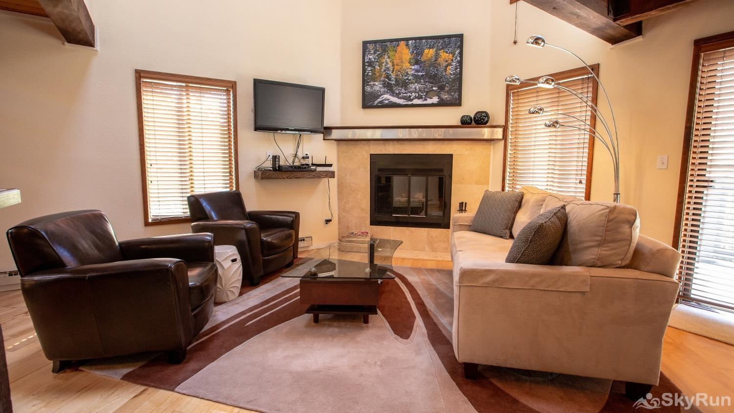 Timber Ridge Open Living Space with Fireplace