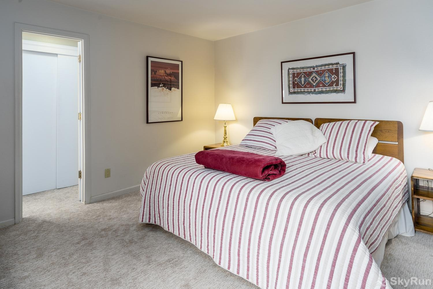 Moraine 27 Master bedroom has a king bed, with lots of closet space and a private bath.