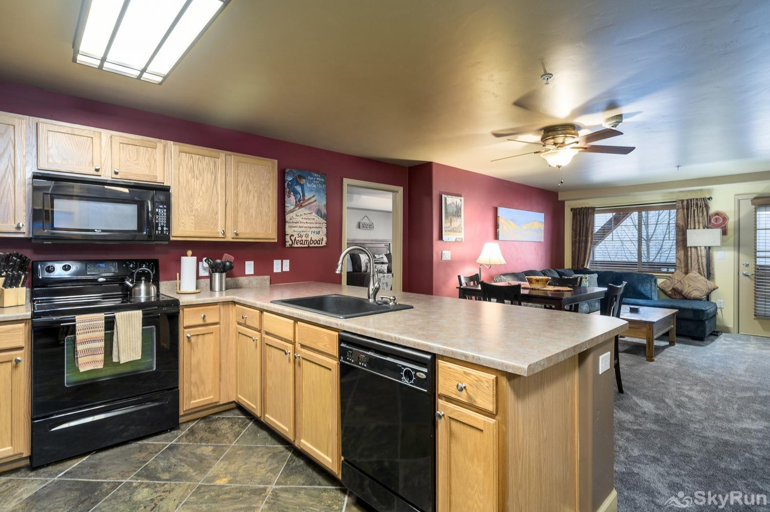 First Tracks 4204 Have fun with friends & family creating a home cooked meal in this spacious kitchen.