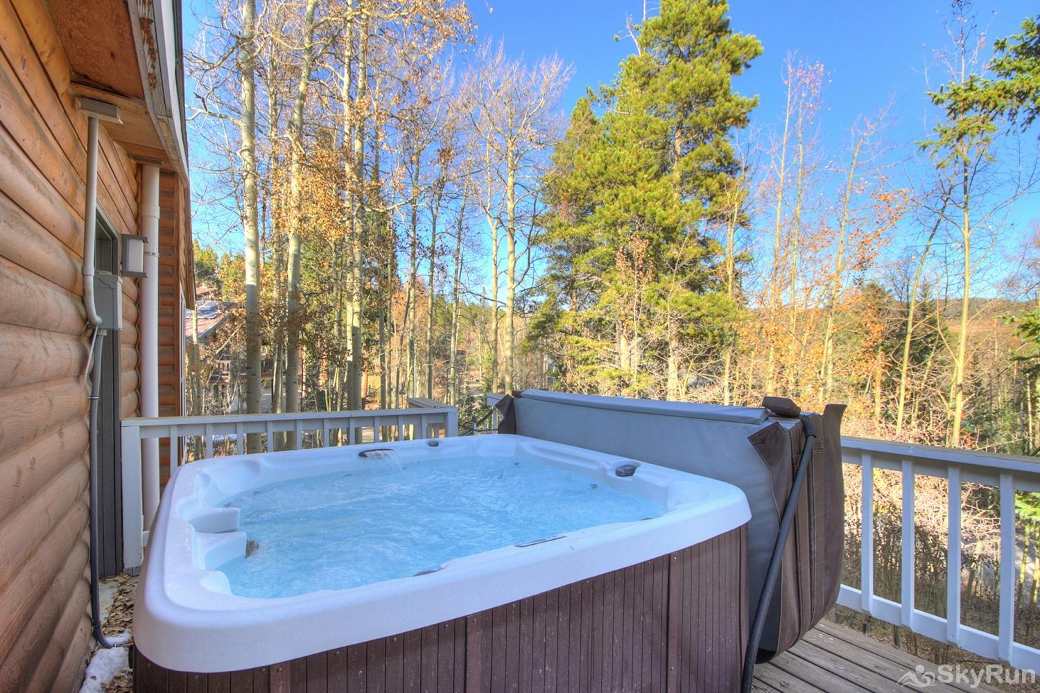 Ski Hill Retreat Enjoy a soak in your private outdoor hot tub