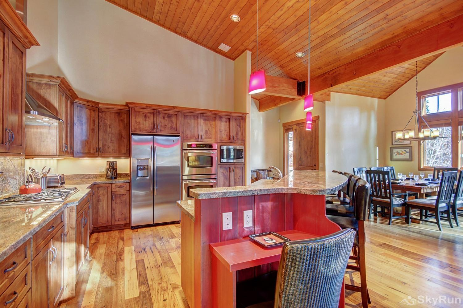 Shock Hill Escape Fully equipped kitchen updated with modern stainless steel appliances