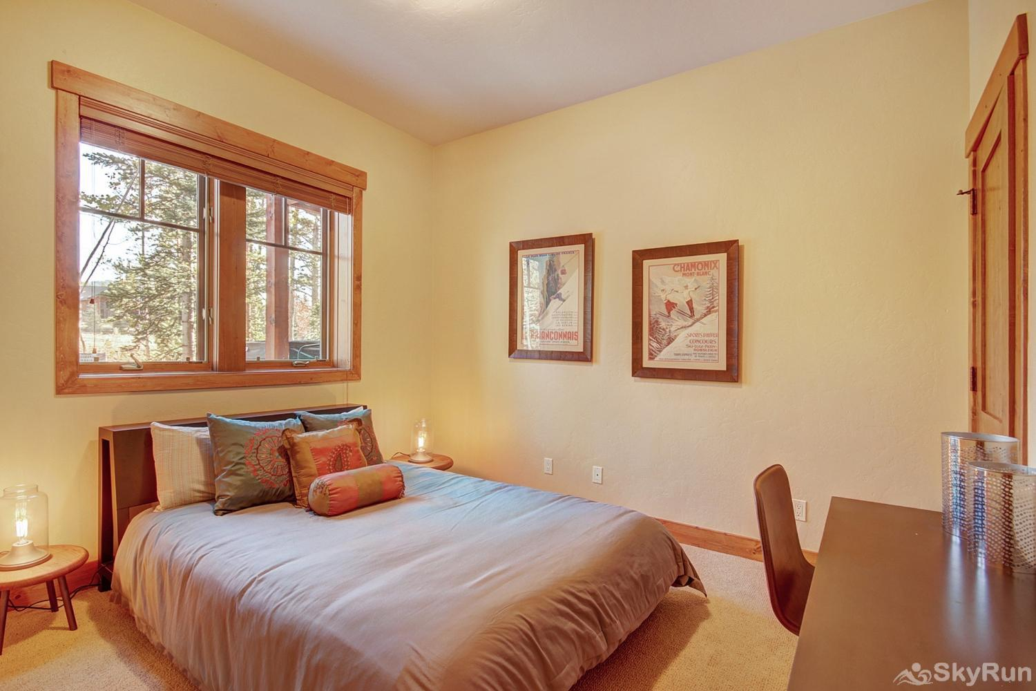 Shock Hill Escape Lower level queen bedroom with ensuite bath