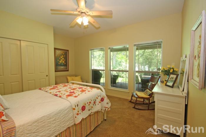 PECAN SHORES RETREAT Second Downstairs Bedroom with Full Size Bed