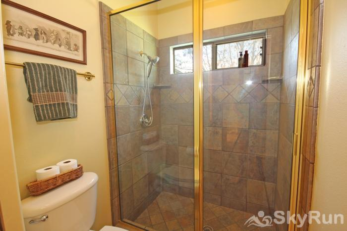 PECAN SHORES RETREAT Downstairs Bath with Walk- in Shower