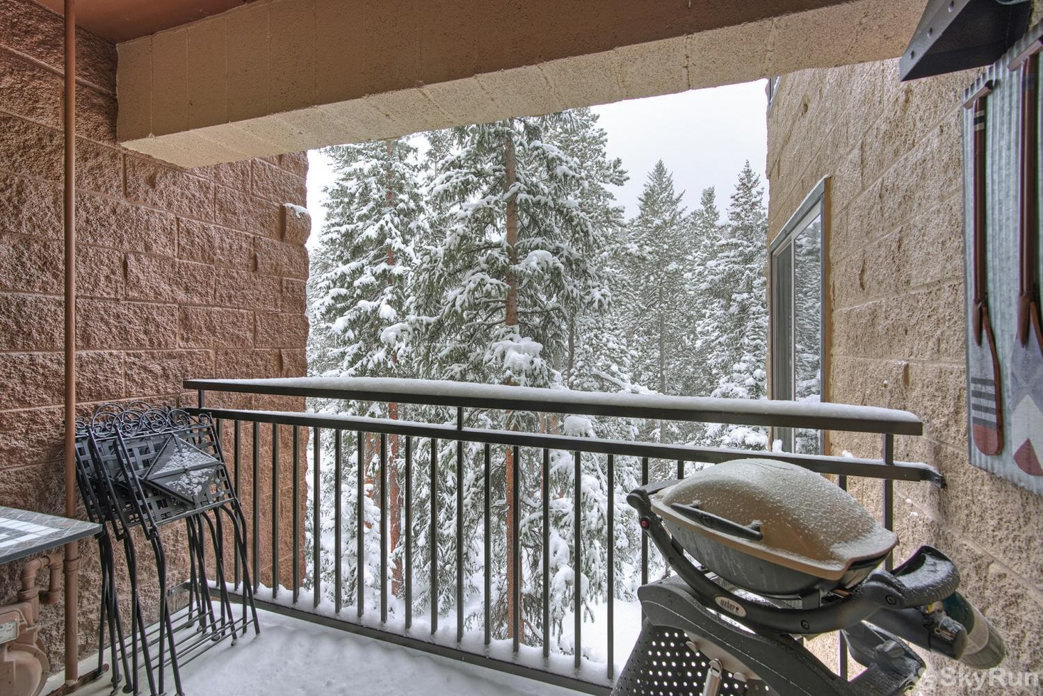 Powderhorn C302 Private balcony with propane bbq