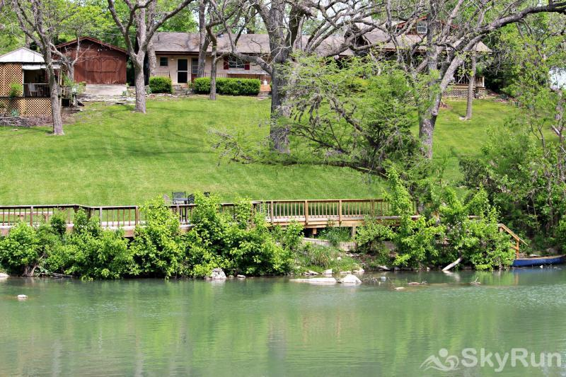 GUADALUPE RIVER GETAWAY View of Home from Far Side of the Banks