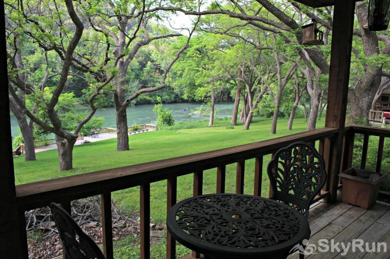 GUADALUPE RIVER GETAWAY Deck Directly off of Master Bedroom
