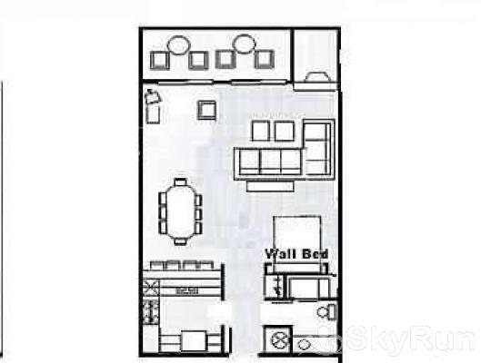 CM116S Copper Mtn Inn Floor Plan - Studio
