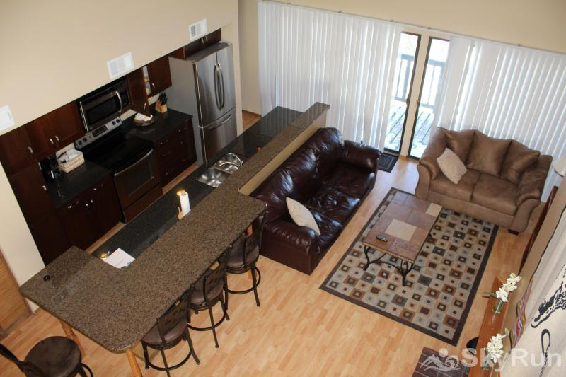 2533 New Larmatine 3BR 2BR Aerial View of Living Area & Kitchen