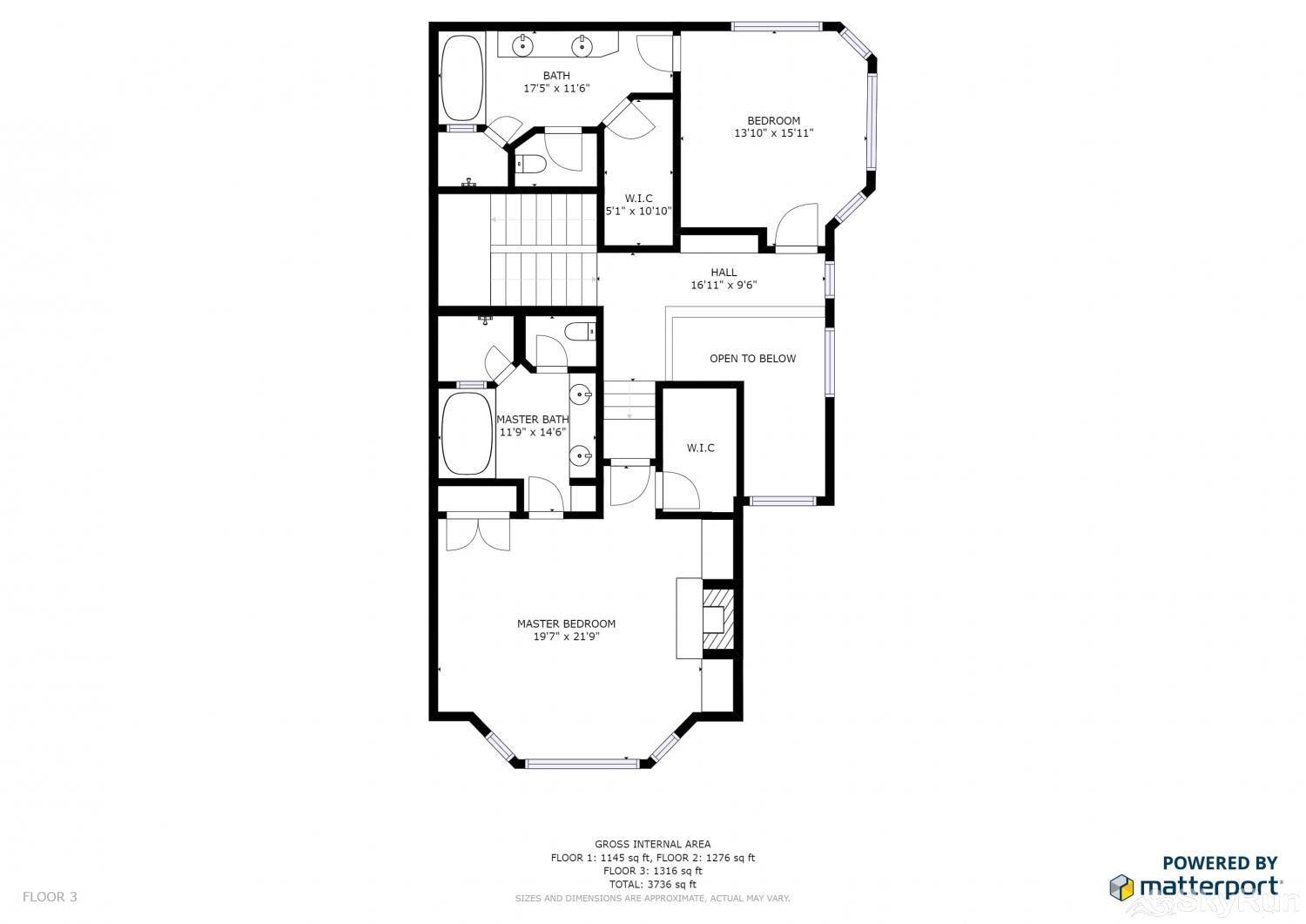Lucky Star at Belle Arbor Floor Plan Upper Level