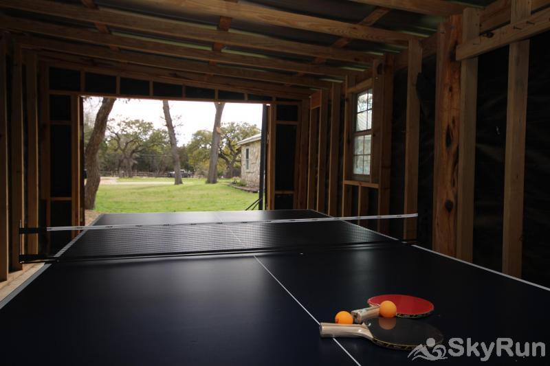 SHEPHERD'S REST Covered Ping Pong Table Area