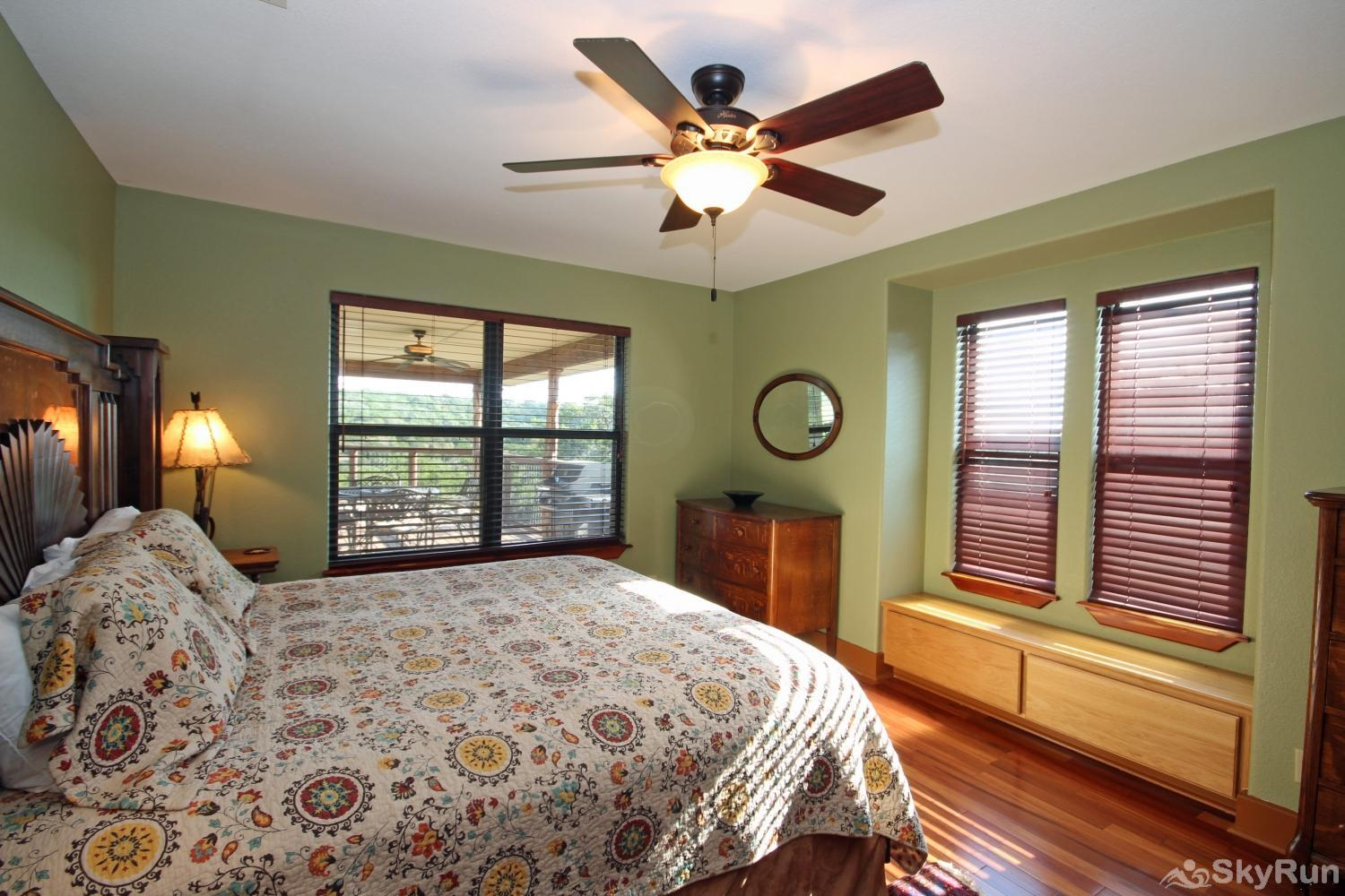 STAR HOUSE First bedroom with king bed and attached bath
