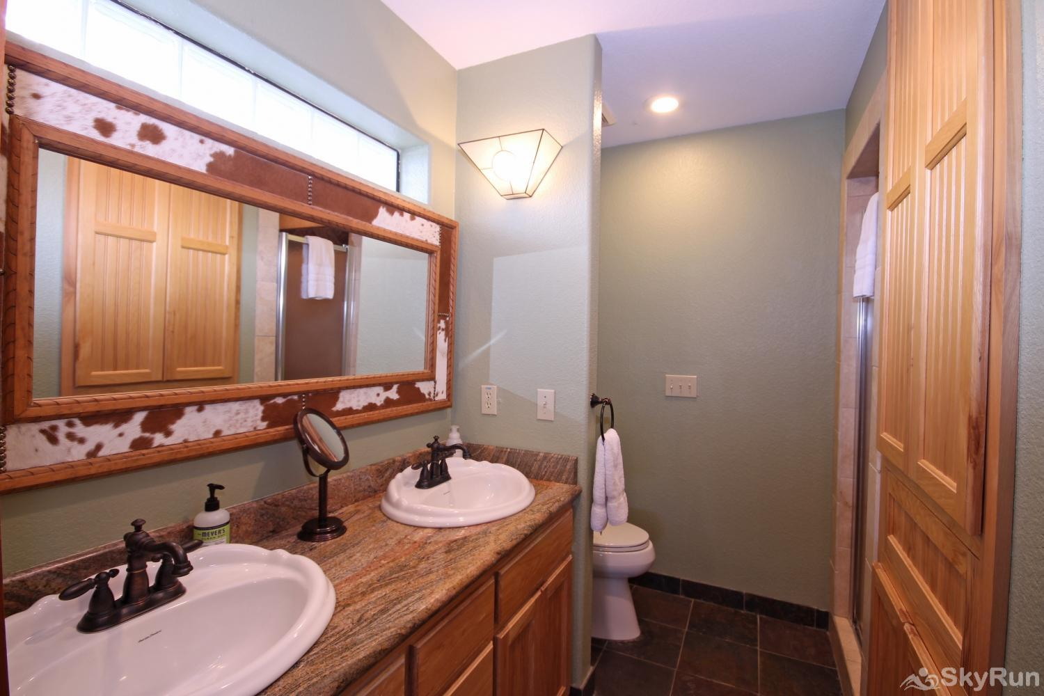 STAR HOUSE First bathroom with dual sinks and walk- in shower
