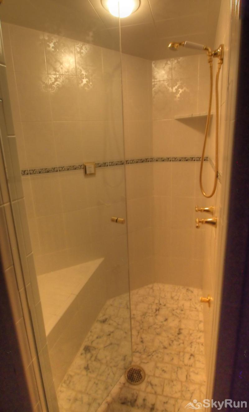 Ballard House 207B Hotel Room (no kitchen) relax in the large steam shower